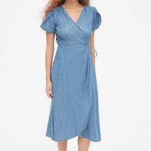 GAP midi wrap dress